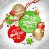 Ilustração do Natal Fotos de Stock