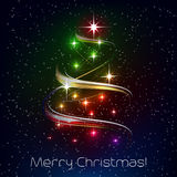 Ilustração do Natal com árvore de Natal Fotografia de Stock