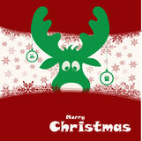 Ilustração do Natal com cervos engraçados Foto de Stock