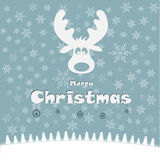 Ilustração do Natal com cervos engraçados Imagem de Stock