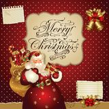 Ilustração do Natal com Papai Noel Imagem de Stock