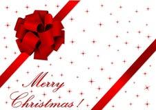 Ilustração do Natal de uma fita vermelha Fotos de Stock Royalty Free
