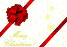 Ilustração do Natal de uma fita vermelha ilustração royalty free