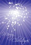 Ilustração do Natal do cartão da estrela Imagens de Stock
