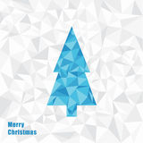 Ilustração do Natal do vetor Árvore de Natal do triângulo fractal Fotografia de Stock