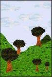 ilustração do natur do drawnd da mão Fotos de Stock