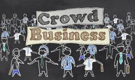 Ilustração do negócio da multidão ilustração do vetor