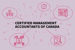 Ilustração do negócio que mostra o conceito de managemen certificados ilustração do vetor