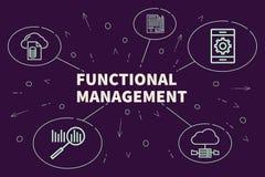 Ilustração do negócio que mostra o conceito do manageme funcional ilustração royalty free
