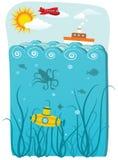 Ilustração do oceano Foto de Stock