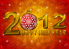 Ilustração do ornamento de 2012 flocos de neve do ano novo Fotos de Stock