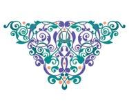 Ilustração do ornamento do sumário da decoração da ilustração do ornamento do sumário do heartdecoration da mandala ilustração do vetor