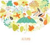 Ilustração do outono Fotografia de Stock Royalty Free