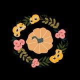 Ilustração do outono - abóbora, folhas ilustração royalty free