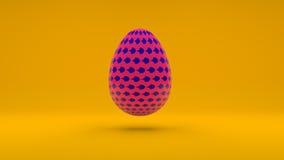 Ilustração do ovo da páscoa realístico do vetor 3D na laranja Foto de Stock Royalty Free