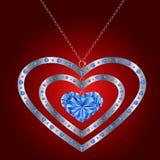 Ilustração do pendente do diamante Fotos de Stock