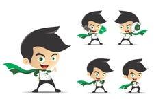 Ilustração do personagem de banda desenhada do homem de negócios Fotografia de Stock Royalty Free