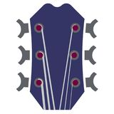 Ilustração do pescoço da guitarra com seis cordas ilustração do vetor