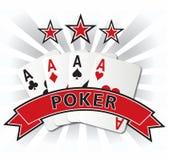 Ilustração do projeto de cartão do pôquer Imagens de Stock