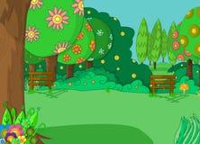 Ilustração do projeto do fundo dos desenhos animados? com espaço do texto Imagem de Stock Royalty Free