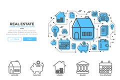 Ilustração do projeto dos ícones da casa Fotografia de Stock Royalty Free