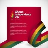 Ilustração do projeto do molde do vetor do Dia da Independência de Gana ilustração do vetor