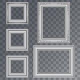 Ilustração do quadro do cartaz do vetor isolado no fundo transparente do estilo do picosegundo Imagens de Stock Royalty Free