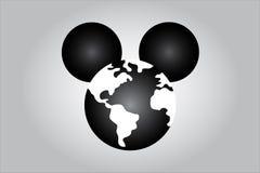 Ilustração do rato que ilustra a dominação dos meios do mundo Fotografia de Stock