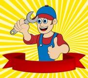 Ilustração do reparador 3d de Repair Means Home do trabalhador manual Imagem de Stock