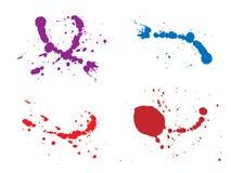 Ilustração do respingo da tinta Imagem de Stock