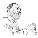Ilustração do retrato para o dia de MLK ilustração stock