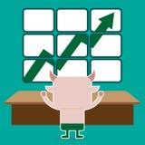 Ilustração do símbolo do touro da tendência do mercado de valores de ação Fotografia de Stock Royalty Free