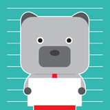 Ilustração do símbolo do urso da tendência do mercado de valores de ação Fotografia de Stock Royalty Free