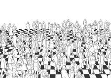 Ilustração do salão aglomerado na cor e na perspectiva ilustração royalty free