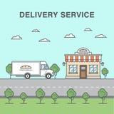 Ilustração do serviço de entrega do pão Fotografia de Stock