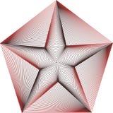 Ilustração do sinal 3d da estrela Foto de Stock