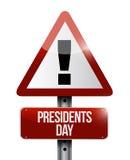 ilustração do sinal da atenção do dia dos presidentes ilustração do vetor