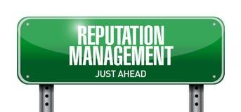 ilustração do sinal de estrada da gestão da reputação Imagem de Stock