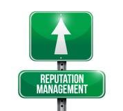 ilustração do sinal de estrada da gestão da reputação Foto de Stock Royalty Free