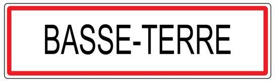 Ilustração do sinal de tráfego da cidade de Basse Terre em França Imagem de Stock Royalty Free