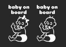 Ilustração do sinal do bebê a bordo Imagem de Stock Royalty Free