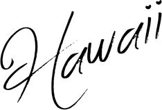 Ilustração do sinal do texto de Havaí imagens de stock royalty free