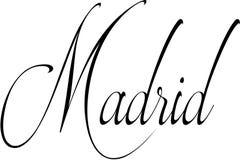 Ilustração do sinal do Madri Foto de Stock