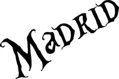 Ilustração do sinal do Madri Foto de Stock Royalty Free