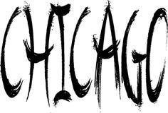 Ilustração do sinal do texto de Chicago fotografia de stock royalty free