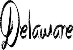 Ilustração do sinal do texto de Delaware fotografia de stock