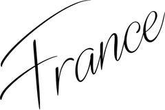 Ilustração do sinal do texto de França fotografia de stock royalty free