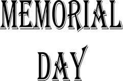 Ilustração do sinal do texto do Memorial Day Imagem de Stock Royalty Free