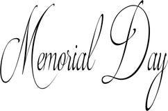 Ilustração do sinal do texto do Memorial Day Imagem de Stock