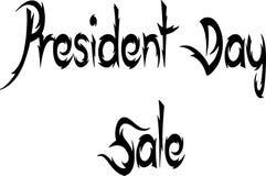 Ilustração do sinal do texto do presidente Dia Venda Foto de Stock